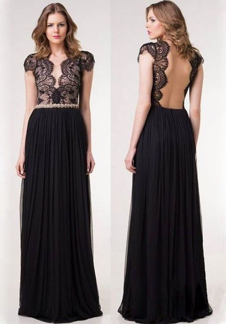 Schwarzes kleid lang rückenfrei
