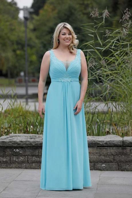 Abendkleid hellblau lang