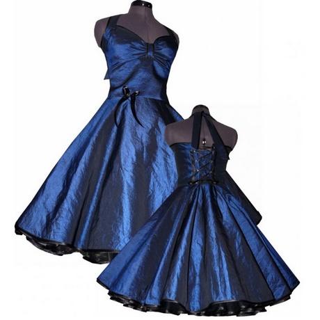 blaues festkleid