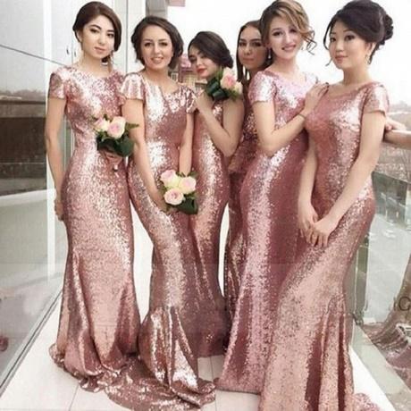 Brautjungfernkleider Lang Altrosa
