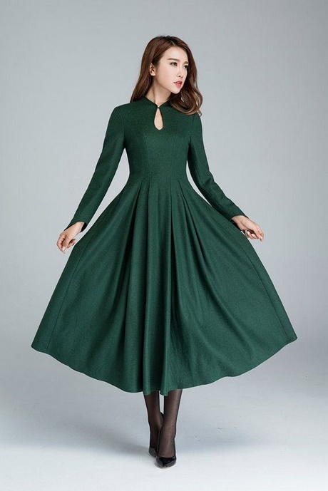 Gr 252 Nes Langarm Kleid