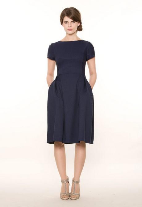 Kleid dunkelblau knielang