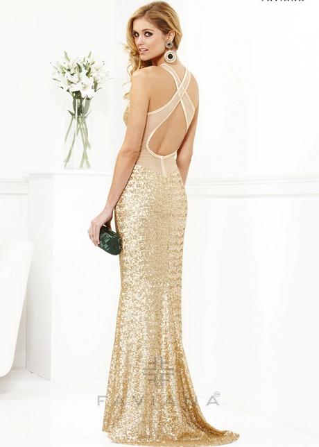 Kleid Gold Lang