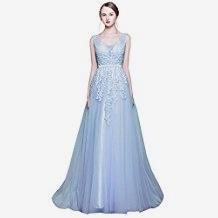 kleid lang hellblau