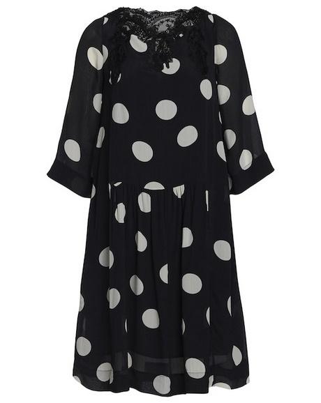 Kleid mit punkten schwarz weiß
