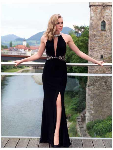 Abendkleid lang schwarz schlicht