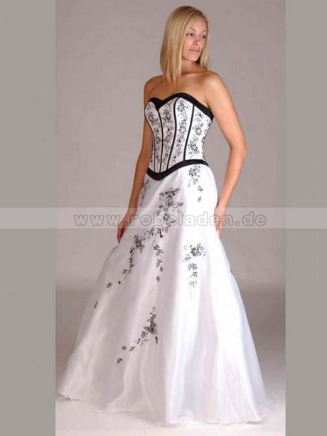 Abendkleid weiß blau