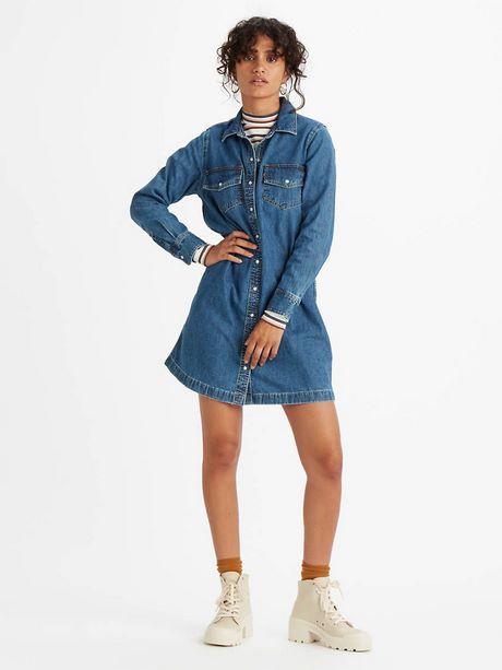 Basic kleid blau