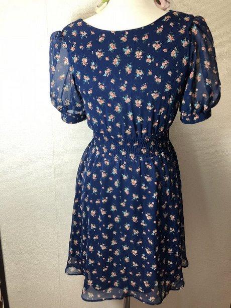 Kleid blau chiffon