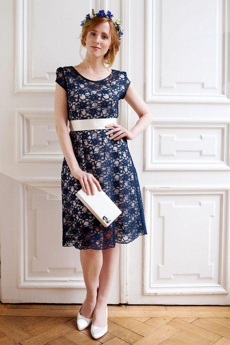 Kleid hochzeitsgast blau