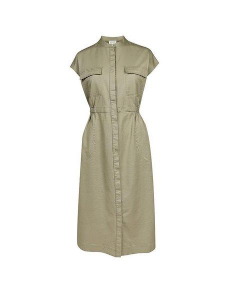 Kleid khaki grün
