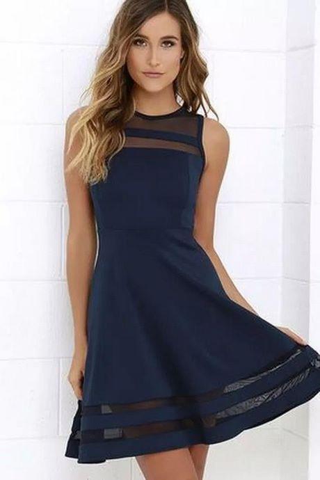 Navy blau kleid
