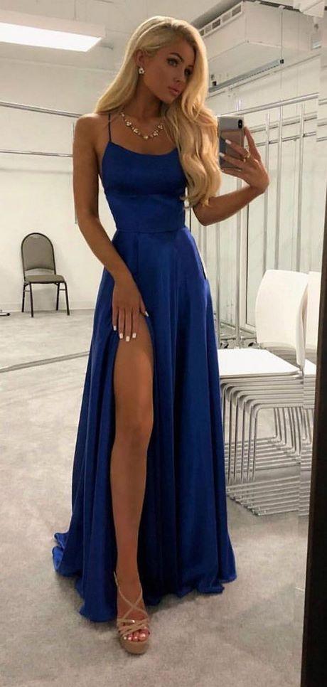 Royal blaues kleid