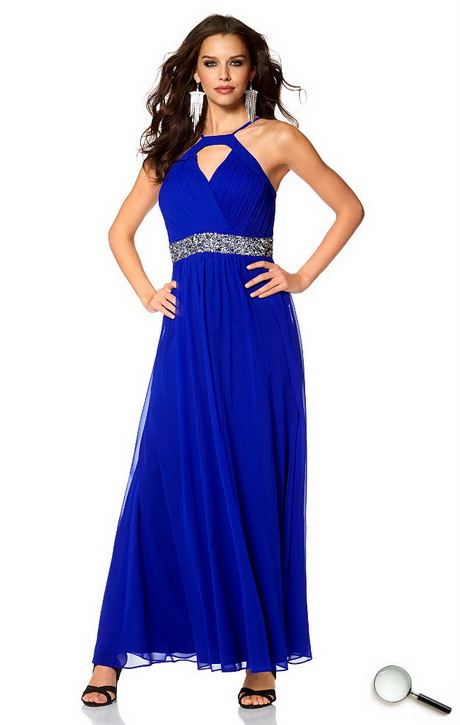 Blaue lange kleider