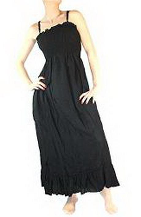 Strandkleid schwarz lang