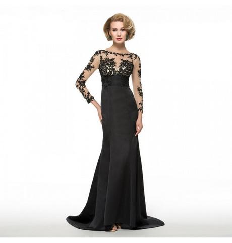 Abendkleid langarm schwarz