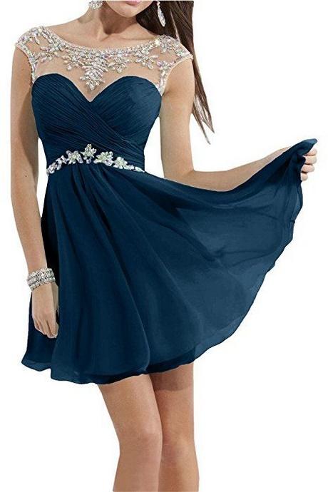 Abendkleider kurz blau