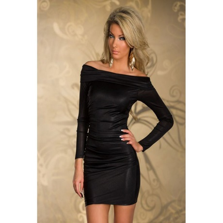 Kleid langarm schwarz for Shein frauen mode