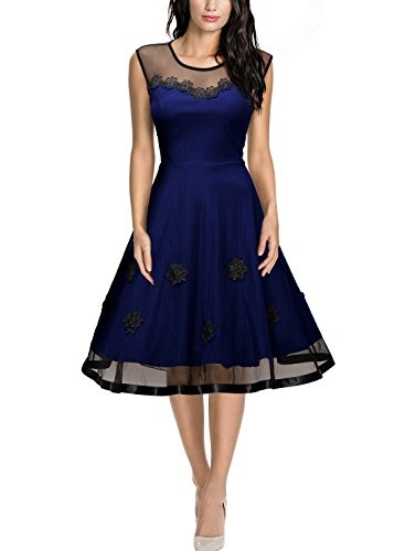 Kleider blau knielang