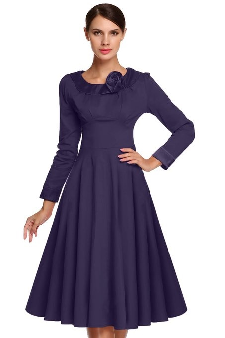 Langarm kleider elegant
