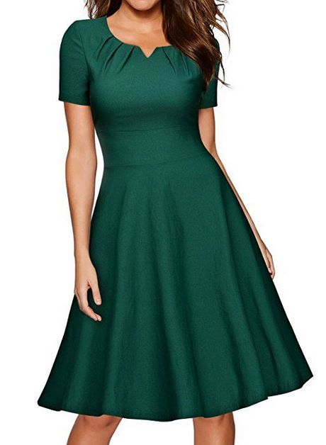 Abendkleid grün knielang