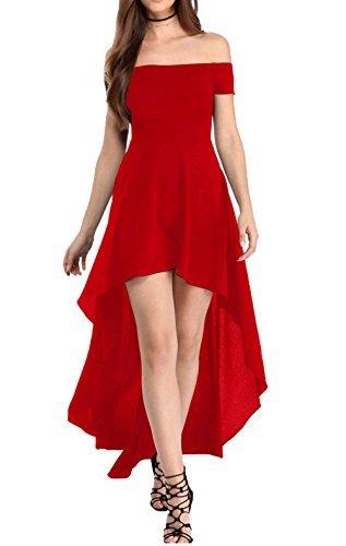 Abendkleider knielang rot