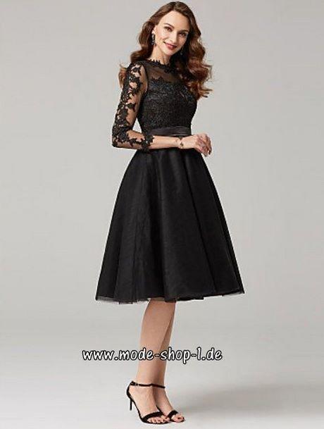 Abschlussballkleider schwarz knielang