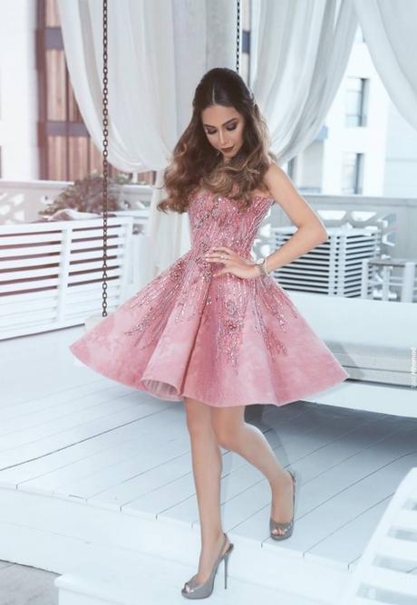 cocktailkleid kurz rosa