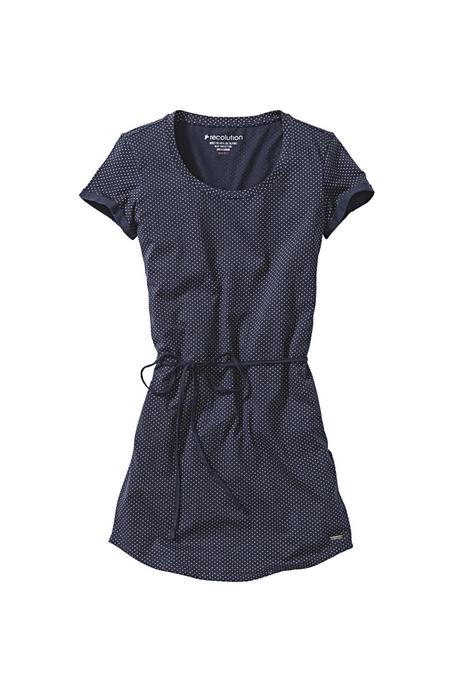 Kleid dunkelblau mit punkten