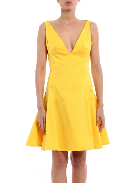 Kleid gelb knielang