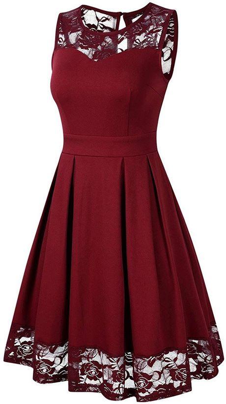 Kleid knielang bordeaux