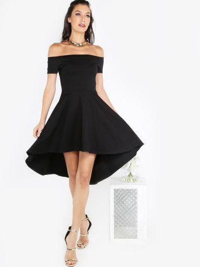 Schwarzes kleid schulterfrei