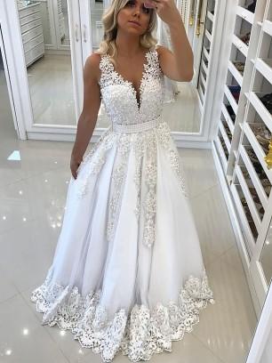 weiße bodenlange kleider