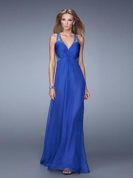 Abiballkleider lang blau