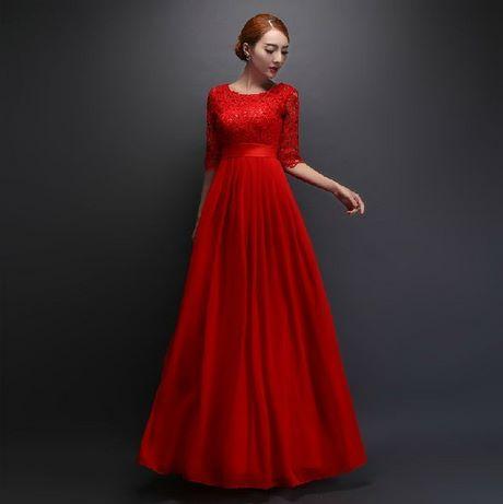 Rotes ballkleid lang