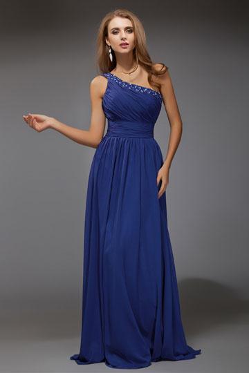 Abendkleid lang royalblau