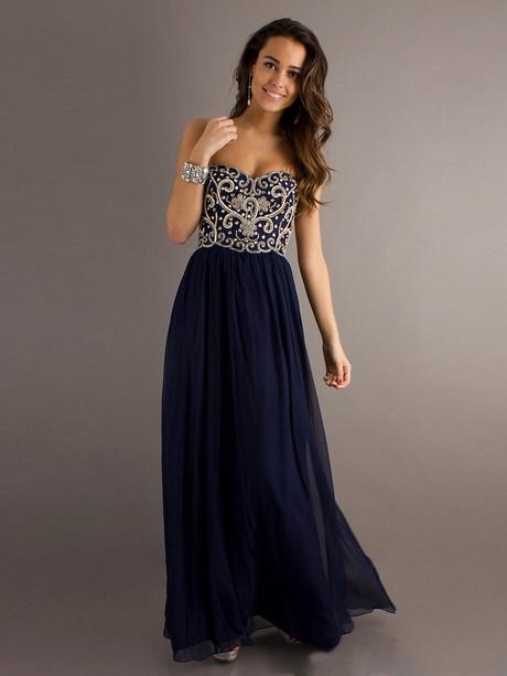 Abendkleid nachtblau lang