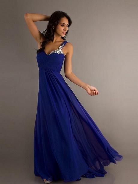 Abendkleider in blau lang