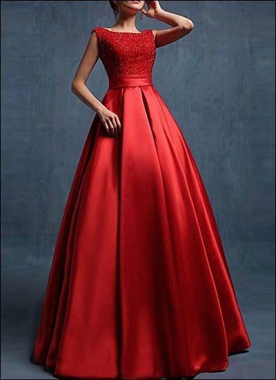 Rotes langes kleid mit schlitz - Rotes abendkleid lang ...