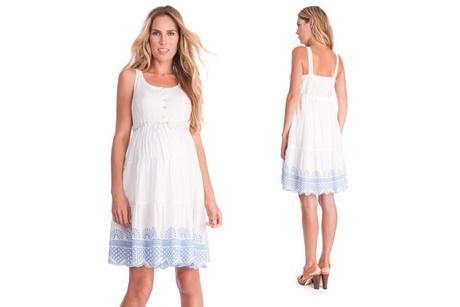 umstandsmode kleid weiß