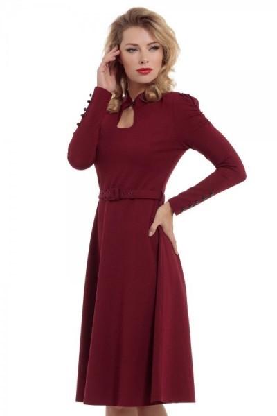 Bordeaux kleid langarm