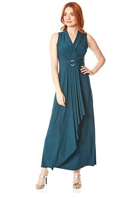 Kleid Blau Schwarz Weiß Gold