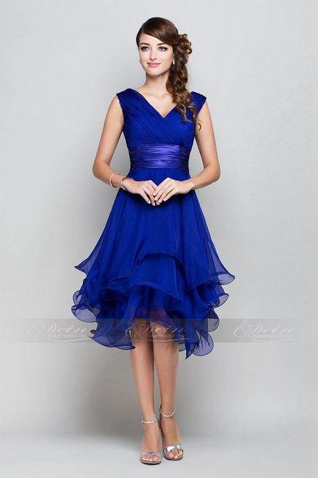 blaues abendkleid knielang