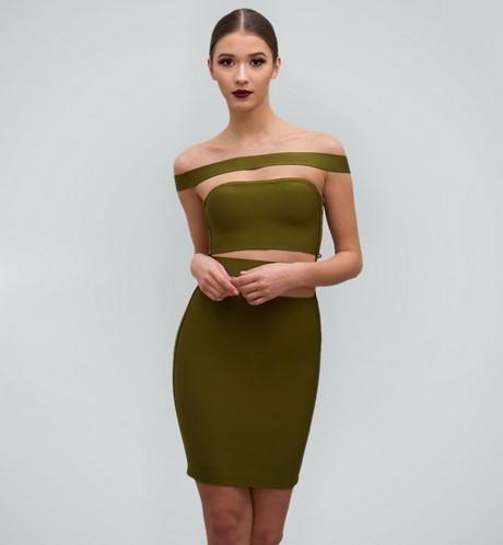 Khaki grünes kleid