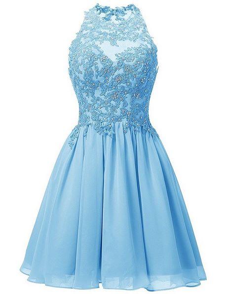 Kleid kurz hellblau