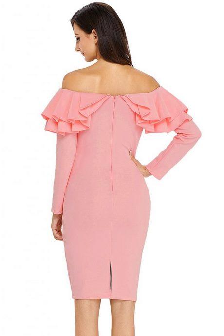 kleid langarm rosa
