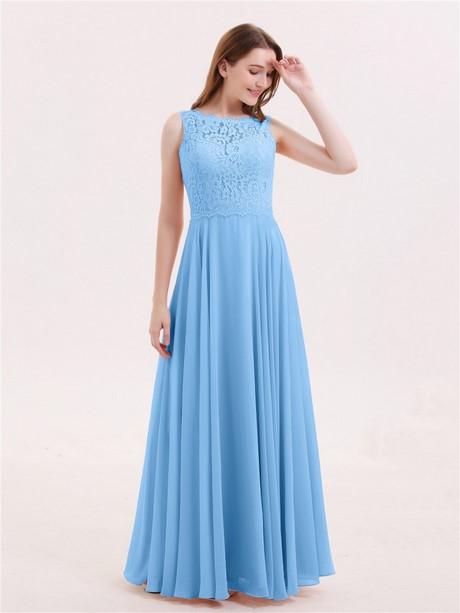 lange kleider in blau