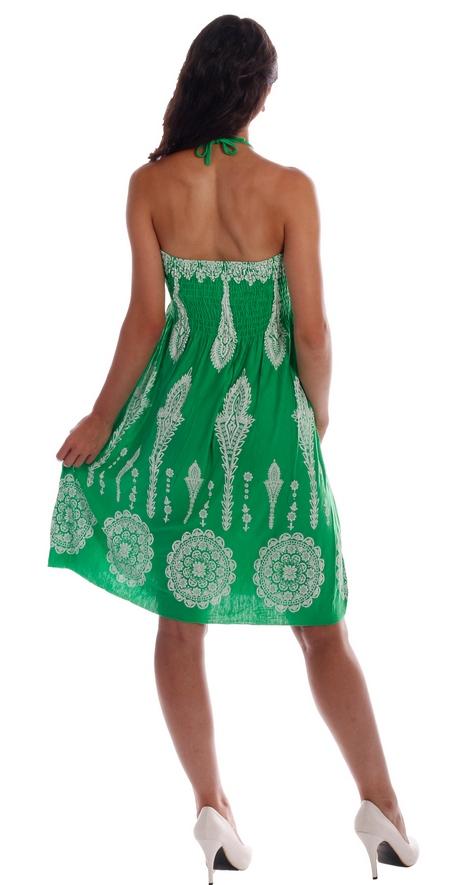 Neckholder kleid grün