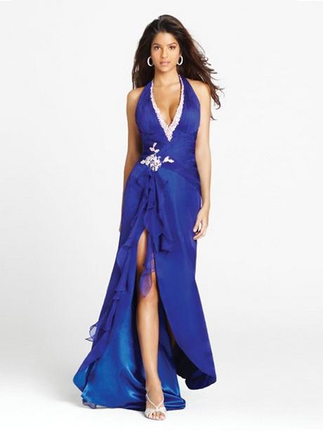 Abendkleid blau rückenfrei