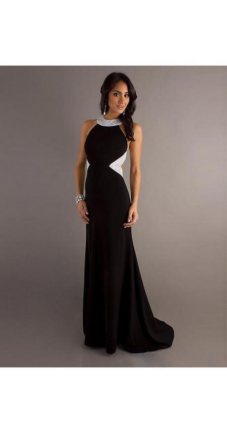 Abendkleid schwarz lang rückenfrei
